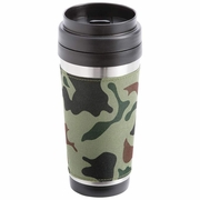 Maxam® 16oz Stainless Steel Travel Tumbler Camouflage Pattern Wrap