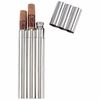 Maxam  2oz Stainless Steel Flask with 2 Cigar Tubes