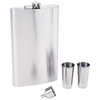 "Maxam� 4pc Stainless Steel 64oz  Flask Set with  ""Giant Shot"""