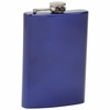 Maxam® 8oz Stainless Steel Flask  Blue Finish