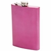 Maxam® 8oz Stainless Steel Flask PINK Finish