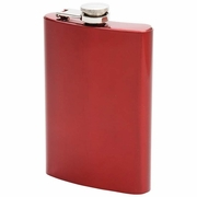 Maxam  8oz Stainless Steel Flask  RED Finish