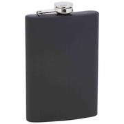 Maxam  8oz Stainless Steel Flask  Rubber-Touch Finish