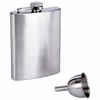 Maxam  8oz Stainless Steel Hip Flask with Funnel