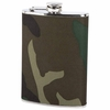 Maxam® Camouflage Wrap Flask  8oz Stainless Steel