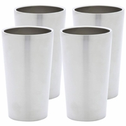 Maxam Double Wall 13oz Stainless Steel Tumbler Set  4pc