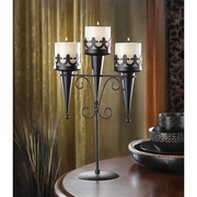 Medieval Triple Pillar Candle Stand