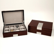 Men's Eight Watch Box Walnut  Wood Piano Finish
