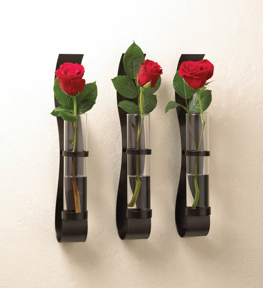 Wall Sconces With Vases : Metal Wall Sconce Vase Trio