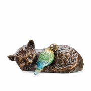 Midday Nap (Cat and Bird)  Garden Sculpture