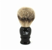 MiN New York Silvertip Black Handle Shave Brush