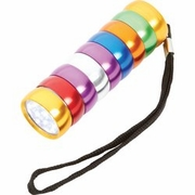 Mitaki-Japan 9 LED Multi-Colored Flashlight
