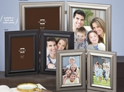 "Monroe Duos Hinged Metal Double Picture Frame 8"" x 10"""