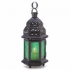 Moroccan Lantern Green Glass