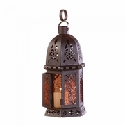 "Moroccan Style Petite Candle Lantern  10.25""h"