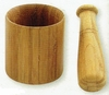 Mortar and Pestle Carmelized Bamboo 4""