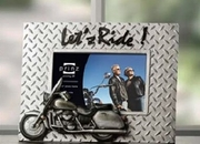 """Motorcycle Frame """"Let's Ride""""   6 x 4"""