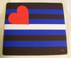 Mousepad  Leather Pride Flag