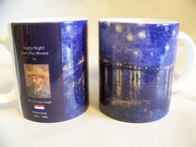 Mug Set  Van Gogh Night Over the Rhone      4/set