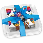 Napkins & Buffet Plates Gift Set  Hot Air Balloon