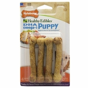 Nylabone Products Healthy Edibles Dog Chews Turkey & Sweet Potato Puppy 4-pack