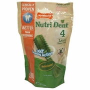 Nylabone Products Nutri Dent Large 4 count Edible Dental Brush Chews