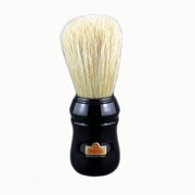 Omega Hog Bristle Shaving Brush, ABS Handle, Black