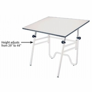 Opal  Drawing Table with 24 x 36 White Top,  White Base