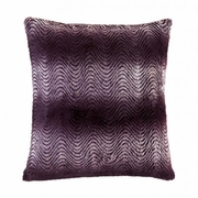 "Orchid Ombre Fur Throw Pillow 17.5""Sq"
