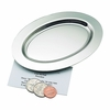 "Oval Plain Tray Nickle-Plated 6"" long"