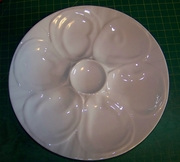 HIC Porcelain Oyster Plate 9""