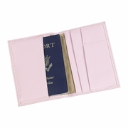 Passport Cover Pink Leatherette