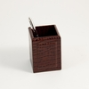 Pencil Box Croco-Grained Leather