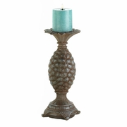 "Pillar Candleholder Pineapple Design Large (12""h)"