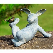 Playful Rabbit Aluminum Garden Figurine