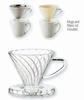 Pour-Over Coffee Filter Cone Borosilicate Glass