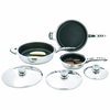 Precise Heat� 6pc High-Quality, Heavy-Gauge Stainless Steel Non-Stick Skillet Set