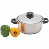Precise Heat 5.5qt 12-Element T304 Stainless Steel Stockpot with Vented Cover
