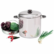 Precise Heat  Waterless  Stock Pot with Steamer Basket 30 Qt fFREE SHIPPING.