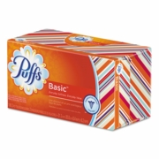 Puffs® White Facial Tissue  1-Ply, 180 Sheets, 24/Carton