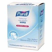 PURELL Cottony Soft Sanitizing Wipes 40ct box.