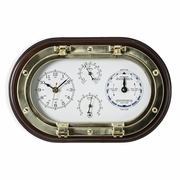 Quartz Time and Tide Clock with Thermometer and Hygrometer