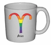 Rainbow Mug Aries  Astrological Symbol