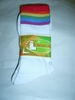 Rainbow Band Socks  Crew Style  One Size Fits Most
