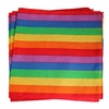 "Rainbow Gay Pride  Bandana  21"" x 21"" Cotton"