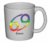 Rainbow Mug Cancer  Astrological Symbol