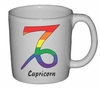 Rainbow Mug  Capricorn  Astrological Symbol