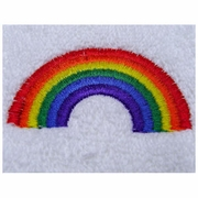 Rainbow Embroidered  Hand Towel