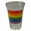 Rainbow Flag Fluted Shot Glass Set  (12pc)