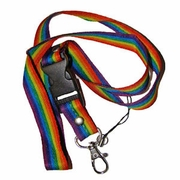 Rainbow Gay Pride Ribbon  Lanyard